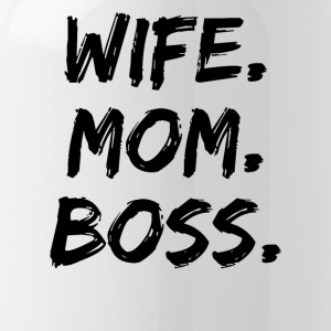 Wife Mom Boss Mother Gift - Water Bottle
