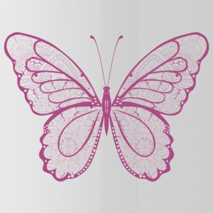 Butterfly in pink, hand drawn - Water Bottle