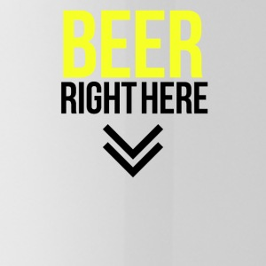 Beer right here - Water Bottle