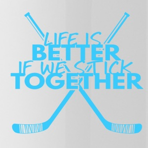 Hockey: Life is better if we stick together - Water Bottle