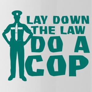 Police: Lay Down The Law Do A Cop - Water Bottle
