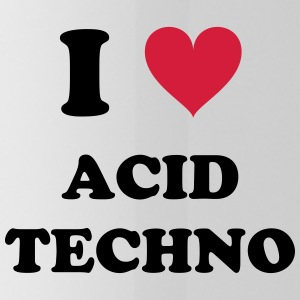 I Love Techno ACIDO - Borraccia