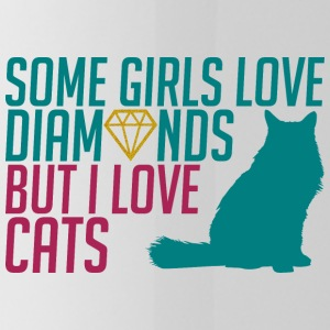 Some Girls love diamond but i love cats - Trinkflasche