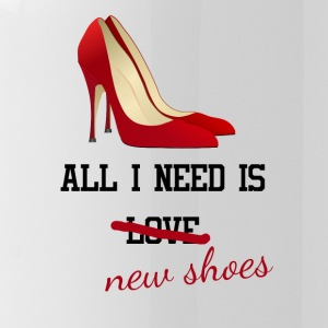 all i need is love ... new shoes. Junggesellin - Trinkflasche
