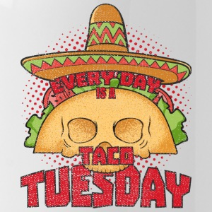 Tacoholic Elke dag is een Taco Taco Funny Tuesday - Drinkfles