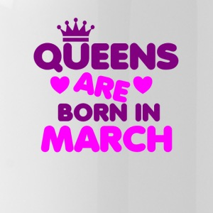 Queens are born in March Crown Legends - Water Bottle
