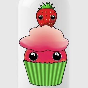 Kawaii cupcake with one strawberry - Vattenflaska