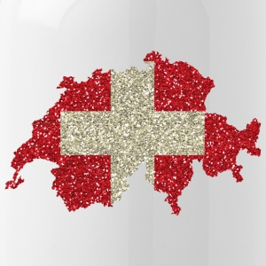 Swiss flag glitter home tradition card - Water Bottle