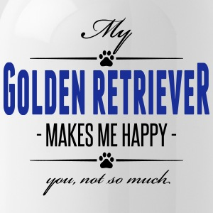My Golden Retriever makes me happy - Trinkflasche