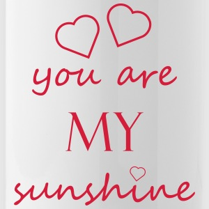 you are my sunshine - Liebe Beziehung Partner Love - Trinkflasche