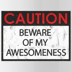 Caution - Awesomeness - Water Bottle