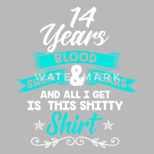 Geburtstag 14 Jahre Shirt Geburtstag Lustig Trinkflasche