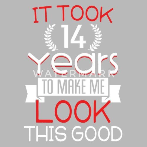 Geburtstag 14 Jahre Shirt Geburtstag Spruch Trinkflasche