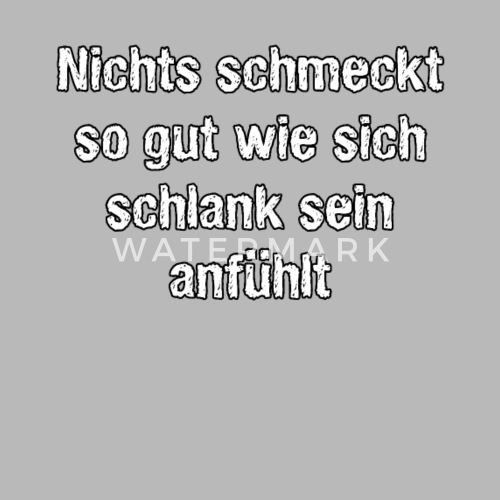 Schlank Sein Spruch Motivation Trinkflasche Spreadshirt