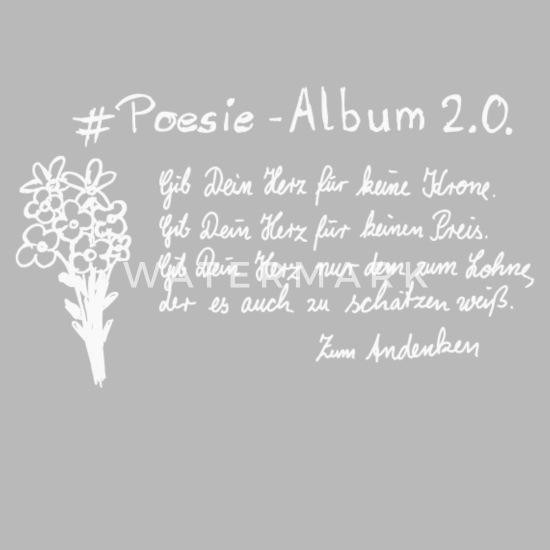 Poesie Album Trinkflasche Spreadshirt