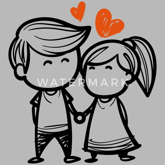 Parchen Paar Handchen Halten Herz Liebe Verliebt Trinkflasche