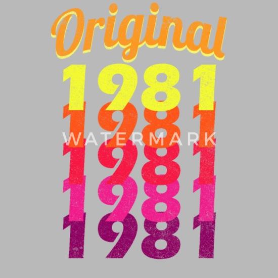 1981 38 Geburtstag Geburtsjahr Vintage Geschenk Trinkflasche