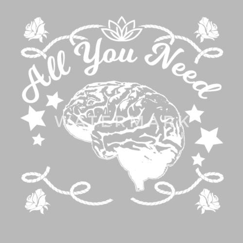 Gehirn Intelligenz Lustige Spruche Trinkflasche Spreadshirt