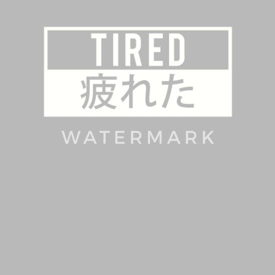 Tired Japanese Aesthetic Vaporwave Design Water Bottle Spreadshirt