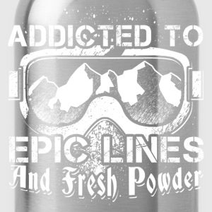 Addicted to skiing - Water Bottle