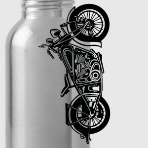 Chopper / Bobber Motorcycle 03_black - Water Bottle