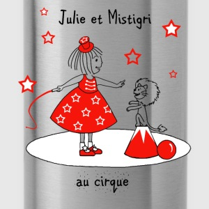 Julie and Mistigri at the Circus - Water Bottle