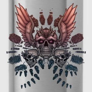 Mechanical Skull + Wings - Water Bottle