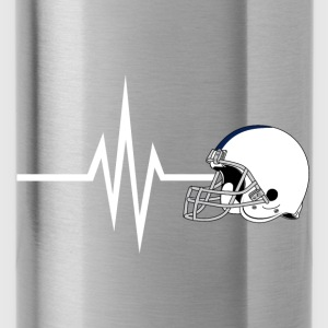 My heart beats for football - sports fitness - Water Bottle