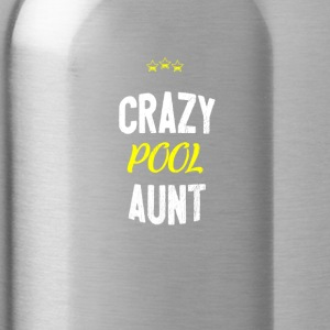Distressed - CRAZY POOL AUNT - Water Bottle