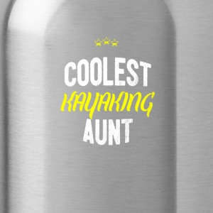 Distressed - COOLEST KAYAKING AUNT - Water Bottle