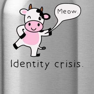 Gift cow funny irony - Water Bottle
