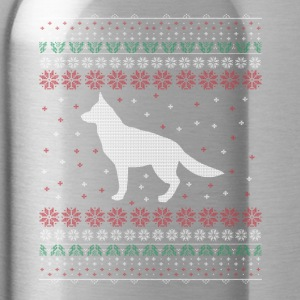 Shepherd Dog Ugly Xmas Sweater Gift Christmas - Water Bottle
