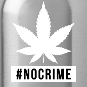 Marijuana Cannabis no crime design gift - Water Bottle