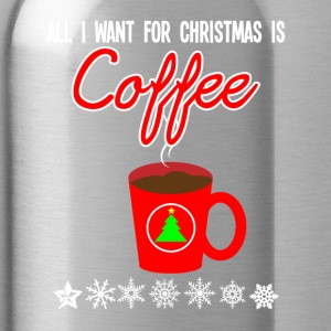 Christmas gift present Xmas advent coffee - Water Bottle