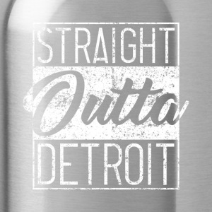 Straight Outta Detroit Distressed - Trinkflasche