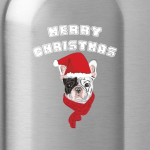 Santa Frenchbulldogg - Water Bottle
