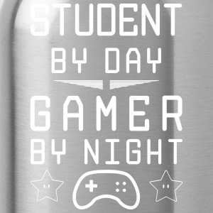 student by day gamer by night - Trinkflasche