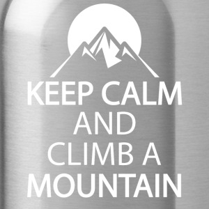 Keep calm and climb a mountain - Water Bottle