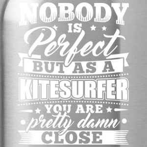 Funny Kitsurfing kite shirt Nobody Perfect - Vattenflaska