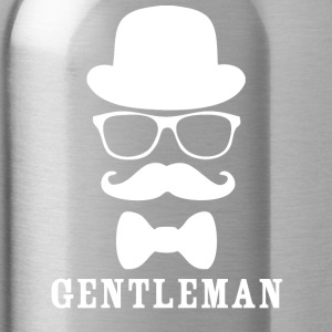gentleman wite - Water Bottle