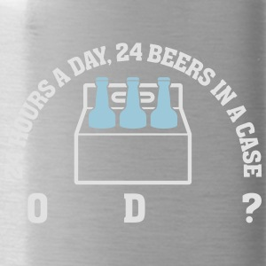 24 Hours A Day ,24 Beers In A Case,Coincidence? - Water Bottle