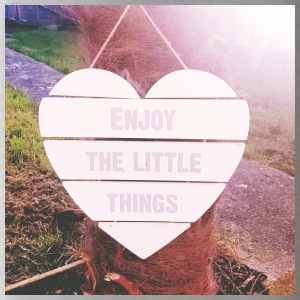 enjoy the little things - Water Bottle