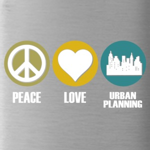 peace love urban planning - Trinkflasche