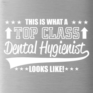 This is a top class dental hygienist - Trinkflasche
