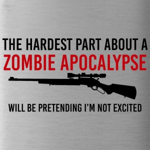 Zombie: The Hardest Part About A Zombie Apocalypse - Water Bottle