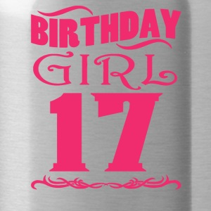Birthday Girl 17 years old - Water Bottle