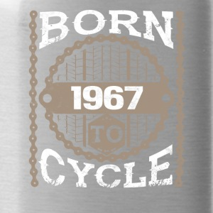 born to cycle moutainbike fahrrad 1967 - Trinkflasche
