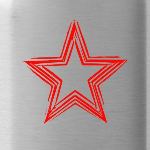 Star Red Shirt - Water Bottle