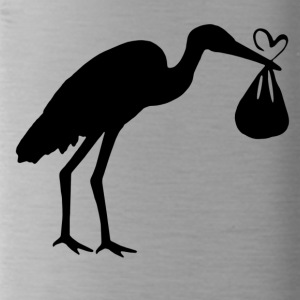 Stork with Baby Maternity Mum with baby bump - Water Bottle