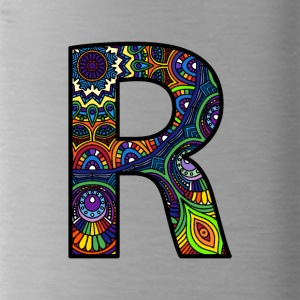 Letter R Mandala - Trinkflasche